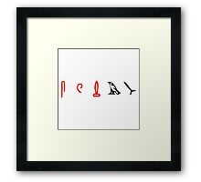 Lost Hieroglyphs (LOST TV Show) Framed Print