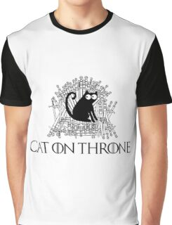 Cat on Throne Graphic T-Shirt