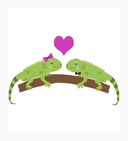Iguana Love Photographic Print