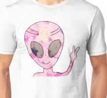 alien peace hippie Unisex T-Shirt