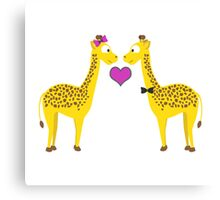 Giraffe Love Canvas Print