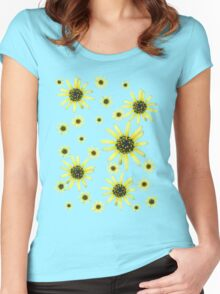 Yellow Daisy Women's Fitted Scoop T-Shirt