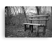 bench in the woods Metal Print