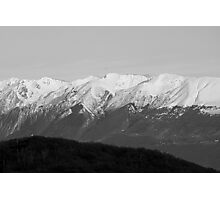 mountains with snow in winter Photographic Print
