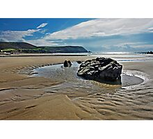 Sand, Rock, Water Photographic Print
