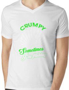 Funny Grumpy Fishing Shirt Mens V-Neck T-Shirt