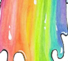puking cloud rainbow Sticker