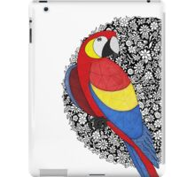 Parrot on florals iPad Case/Skin