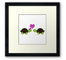 Turtle Love Framed Print