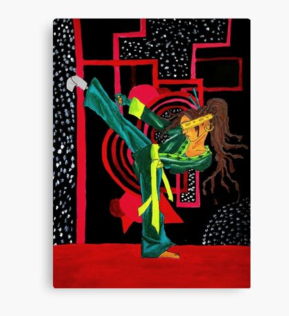 Sustah Girl Karate Canvas Print