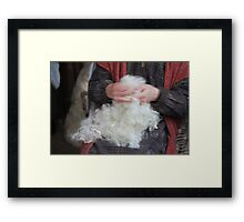 scrape away the wool Framed Print