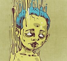 The Golden Boy with Blue Hair by Lukas Brezak