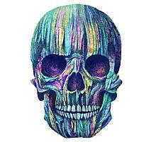 gradient skull Photographic Print