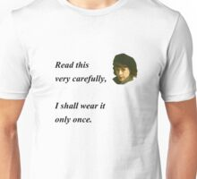 'Allo 'Allo - Read This Very Carefully... Unisex T-Shirt