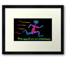 Primitive Barefoot Runner Framed Print