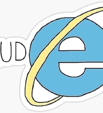 Rude - IE - internet explorer Sticker