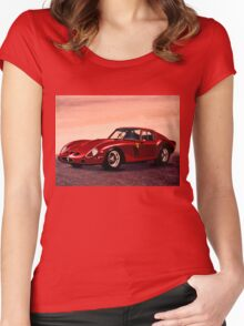 Ferrari 250 GTO Painting Women's Fitted Scoop T-Shirt