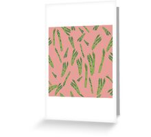 Asparagus on pink Greeting Card