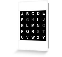 Typography-GHOST Greeting Card
