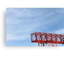 crane in the sky Canvas Print