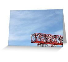 crane in the sky Greeting Card