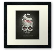 Open Your Mind! Framed Print