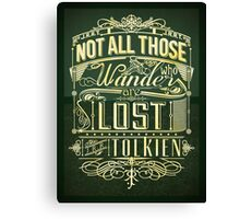 Lost Typography - gold Canvas Print
