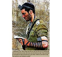 ✌☮ TEFILLIN SOLDIER @ THE WESTERN WALL(WAILING WALL)✌☮  Photographic Print