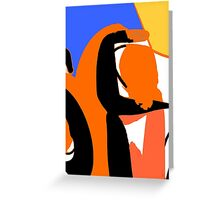 colors and abstract shapes Greeting Card