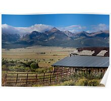 Early Autumn Wet Mountain Valley  Poster