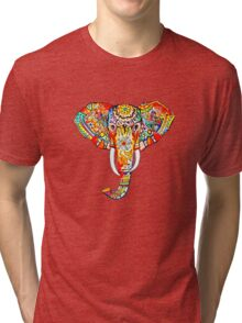 tribal rainbow elephant Tri-blend T-Shirt