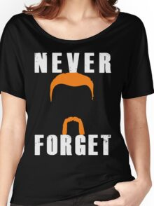 Never Forget Abraham (white font) Women's Relaxed Fit T-Shirt