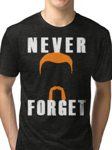 Never Forget Abraham (white font) Tri-blend T-Shirt