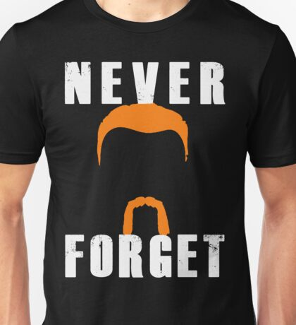 Never Forget Abraham (white font) Unisex T-Shirt