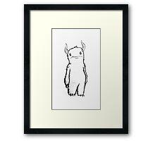 Lonely Troll Framed Print