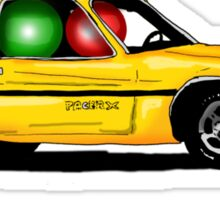 Two ludos in a yellow pacer Sticker