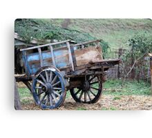 old wooden cart Canvas Print