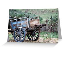 old wooden cart Greeting Card