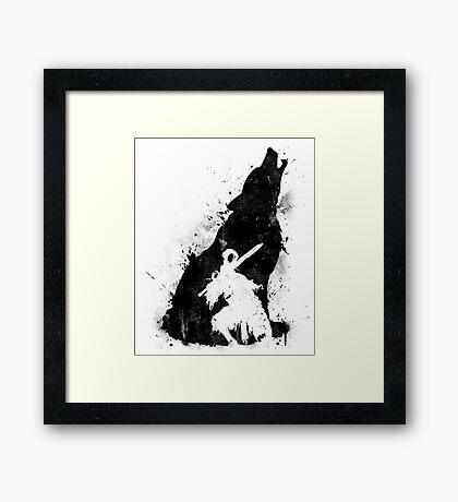 Abyss Warrior VERSION BLACK Framed Print