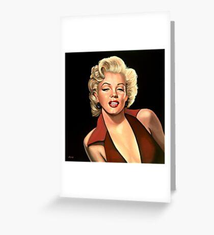 Marilyn Monroe 4 Painting Greeting Card