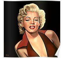 Marilyn Monroe 4 Painting Poster