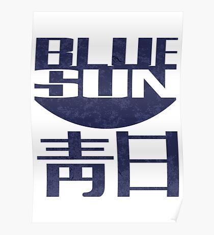 blue sun Poster