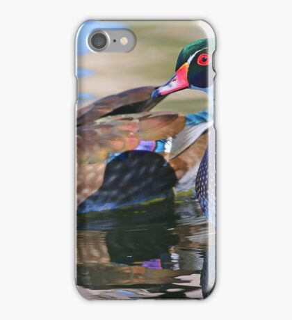 Wood Duck couple! iPhone Case/Skin