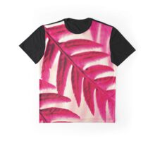 Nature Pattern - Fern (Red Pink) Graphic T-Shirt