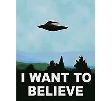 I want to believe, x-files poster Photographic Print