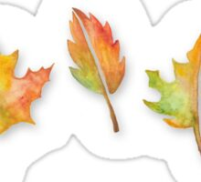 Fall Leaves Set (with shadows) Sticker