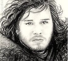 Kit Harington miniature by wu-wei