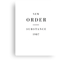 New Order - Substance Canvas Print
