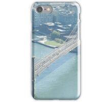 Aerial View, Brooklyn Bridge, East River, New York City iPhone Case/Skin
