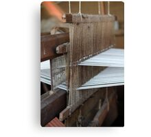 weaving loom Canvas Print
